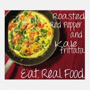 Roasted Red Pepper and Kale Frittata Recipe | SparkRecipes
