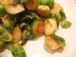 Roasted Brussel Sprouts with White Wine