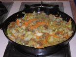 Ground Beef & Cabbage Hash