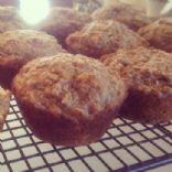 Banana Applesauce Bran Muffins