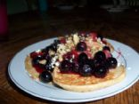 Oatmeal Pancake's with Berry Topping