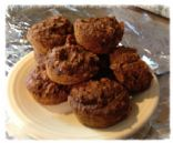Natural Whole-Grain Pumpkin-Oatmeal-Raisin Muffin made with Date Sugar