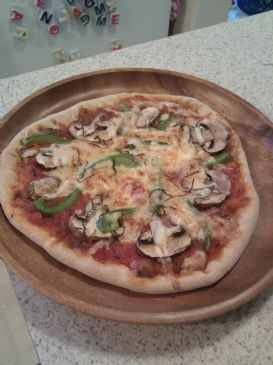 Pita Pizza - completely homemade