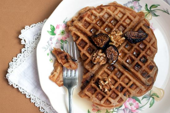 Cinnamon Walnut Fig Waffles