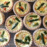 Asparagus mini quiches