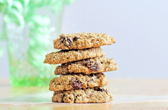 Chocolate Covered Katie Flourless Oatmeal Raisin Cookies