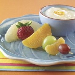 Fruit Skewers with Orange Dip