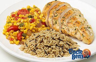 Chicken with Southwest Corn and Brown & Wild Rice