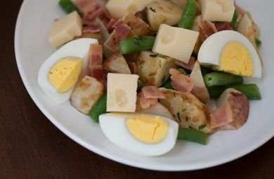 French Potato Salad with Green Beans and Bacon