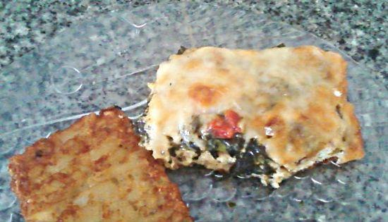Cheesy Crustless Asparagus and Spinach Quiche