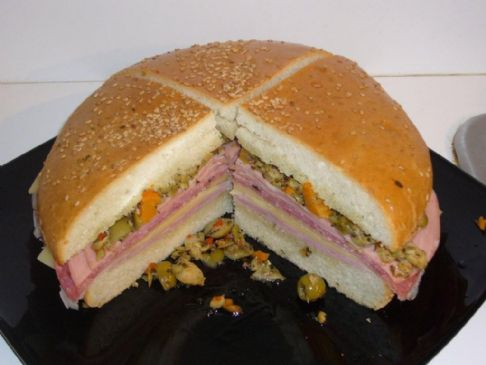 Muffaletta Sandwich New Orleans Style