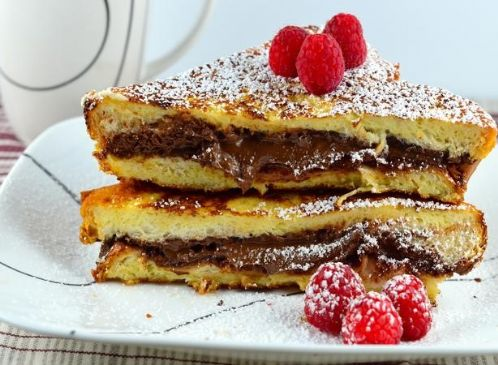 Overnight Nutella Stuffed French Toast Recipe | SparkRecipes