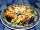 Macadamia Crusted Goat Cheese and Nectarine Salad