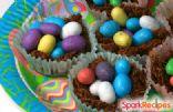 No-Bake Chocolate Easter Nests