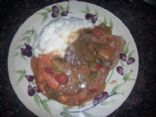 Slowcooker Swiss steak and veggies with sauce