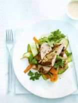 Spiced Chicken with Carrot Salad & Harissa Yoghurt