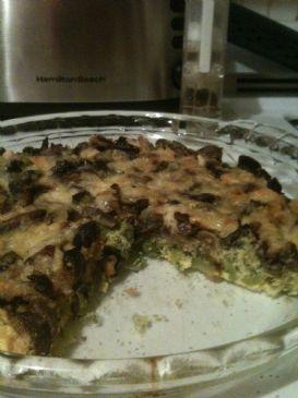 Broccoli, mushroom, egg fritatta