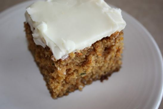 Zucchini-Carrot Cake with Cream Cheese Frosting