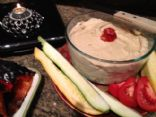 Low Fat Hummus with Roasted Red Pepper | AngelaSphere