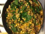 Mushroom & Spinach Korma