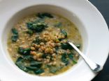 Low Fat, Vegan White Bean and Spinach Soup