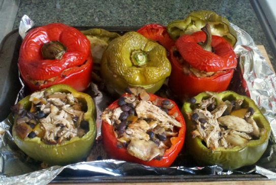 Chicken Stuffed Red Peppers