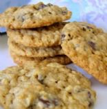 Chewy Oatmeal Chocolate Chip Cookies (no eggs)