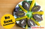 Big Game Sandwiches (Pumpernickel Ham & Cheese)
