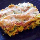 portabella Mushroom w/spinach and feta lasagna