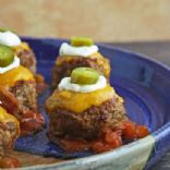 Loaded Nacho Meatballs