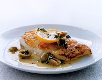Fish Fillets with Olives and Oregano