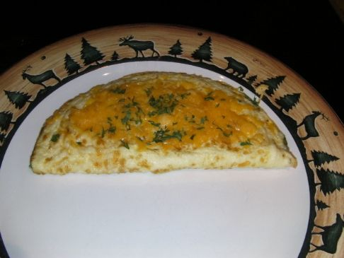 Nanny's Spinach Cheese Egg White Omelet