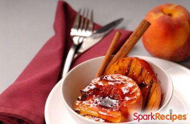 Grilled Peaches with Raspberries