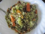 No Meat Fresh Veggie & Whole Grain Rice Stir Fry