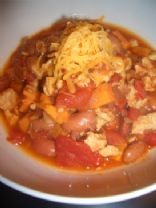 Sweet Potato, Turkey and Bean Chili