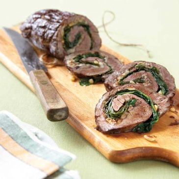 HCG P2 Flank Steak Spinach Rolls