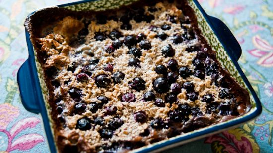 Lemon Blueberry Baked Oatmeal