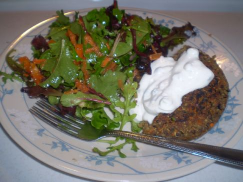 Greek Style Quinoa Burgers Recipe   SparkRecipes