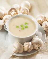 Raw Creamy Garlic Mushroom Soup