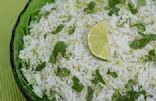 Coconut-Cilantro Rice with Lime