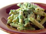 Whole Wheat Penne Pasta with creamy Spinach sauce