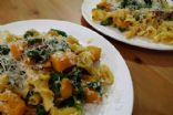 Pasta with Butternut Squash, Spinach & Prosciutto