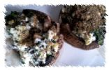 Feta and Flax Stuffed Mushroom Caps