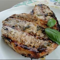 Basil Garlic Pork Chops