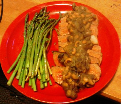London Broil with Tequila Bean Sauce
