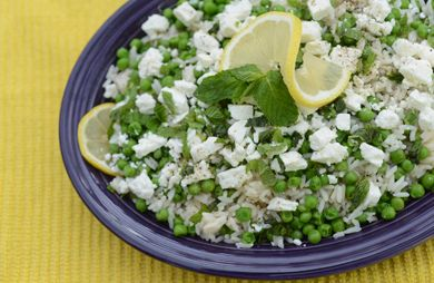 Minted Peas & Rice with Feta