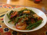 Excessive Garlic On Shrimp