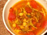Harira - Moroccan Tomato, Lentil and Chickpea Soup