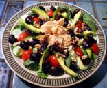 Zesty Cherry Salad with Salmon and Pecans