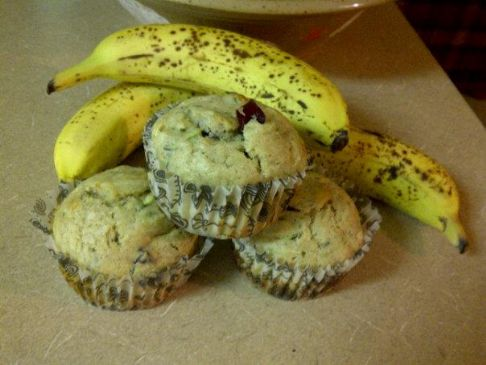 Zucchini Banana muffins